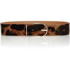 Image result for leopard print pony hair belt maison