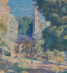 """""""Stockton Church,"""" Daniel Garber, 1839, oil on canvas, 30 x 28 1/2"""", private collection."""