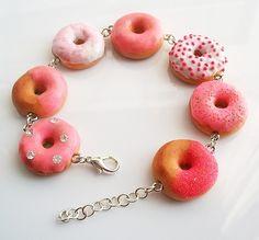 Pink donut bracelet