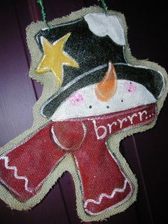 Hey, I found this really awesome Etsy listing at https://www.etsy.com/listing/169598396/snowman-door-hanger-burlap-wreath