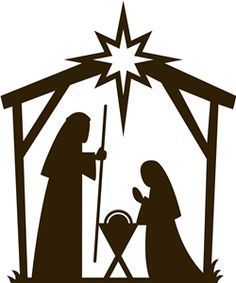 Nativity Scene Silhouette Printable <b>silhouette</b>, <b>nativity</b> and design on pinterest
