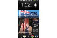 I have to admit: I really dig the new home screen for the HTC One. In fact I've tried to get something similar on my Windows Phone 8X. Close, but it depends on the apps being ready to properly update the live tiles. This on the other hand looks clean and great from the get go.