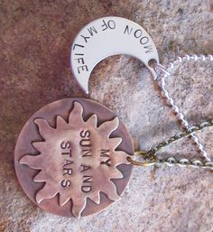 His and Hers Khal - Khaleesi Hand Stamped Necklaces - Game of Thrones Gifts for…