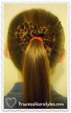 Cute heart hairstyle for #valentines day