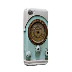 iphone4-4s case vintage short wave radio iphone 4 cases by slcook52