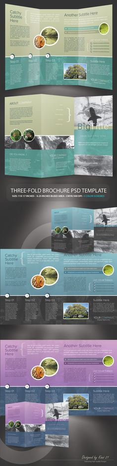Corporate Trifold Brochure - Brochures on Creattica: Your source for design inspiration