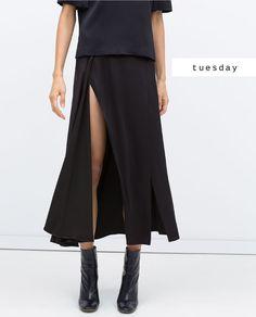 #zaradaily #tuesday #woman #top #skirt #aw15