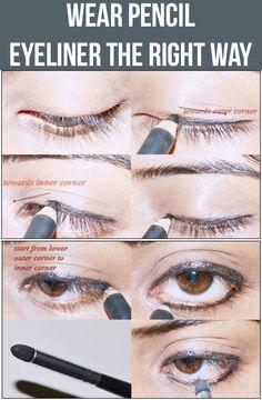 Pencil Eyeliner Tutorial on Pinterest Permanent Eyeliner, Pencil ...
