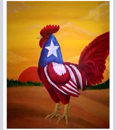 Puerto Rican Rooster by . Puerto Rico Food, San Juan Puerto Rico, Ricos World, Puerto Rico Pictures, Puerto Rican Flag, Puerto Rico History, Puerto Rican Culture, Rooster Art, Puerto Rican Recipes