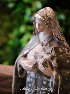 Antique French St. Therese Statue From France by edithandevelyn on Etsy