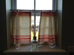 Simple Cafe Curtain DIY