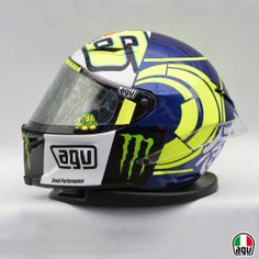 Vale's Pista GP for the winter tests Vr Logo, Valentino Rossi 46, Vr46, Vr Games, Drone Technology, Monster Energy, Motorcycle Helmets, Motogp, Airbrush