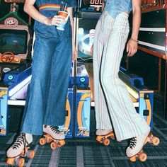 Roller Disco in Flares 70's Style  Image via @thehippieshake
