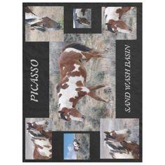 Picasso Icon of Sand Wash Basin  Colorado Fleece Blanket - horse animal horses riding freedom