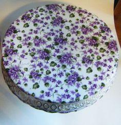 Porcelain Chintz Purple Lavender Violets Posy by parkledge on Etsy, $45.00