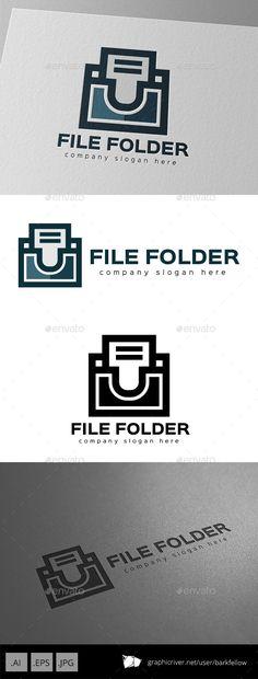 File Document Folder Logo Design Template  - 3 files AI CS EPS 10 JPG  - CMYK 300ppi print ready  - Re-sizable  - Editable text  -