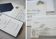 Pinecone Wedding Invitations. $5.00, via Etsy.