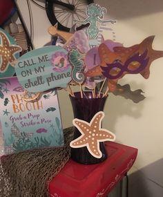 DIY Mermaid birthday photo booth props