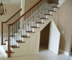 Under Stair Storage Designs With One Door Designs