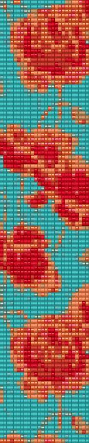 Loom Bracelet Beading Pattern Poppies by GoldenValleyCraft on Etsy