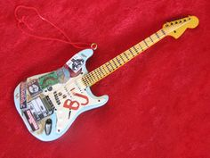 """Green Day Billie Joe Armstrong Miniature  """"Blue"""" Guitar, Hand Finished. $75.00, via Etsy."""