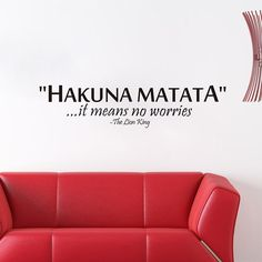 I'm selling HAKUNA MATATA Cartoon The LION KING IT MEANS NO WORRIES Quote Wall Stickers for $6.49. Get it on Shopee now!https://shopee.com.my/monking.my/170633937 #ShopeeMY