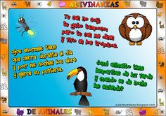 Aula virtual de audición y lenguaje: Adivinanzas de animales Family Guy, Comics, Fictional Characters, Poem, Project Based Learning, Spanish Class, Preschool, Classroom, Comic Book