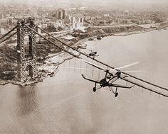 George Washington Bridge under construction circa 1930