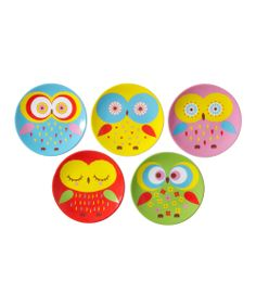 Jewel Owl Plate Set