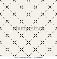 Vector seamless pattern. Modern stylish texture. Repeating geometric tiles with dotted rhombuses by Curly Pat, via Shutterstock