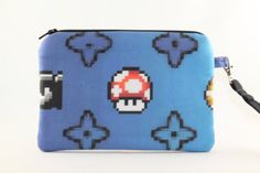 Super Mario Bros. Wristlet Wallet Bag Large by RedShirtCreations, $16.95 #mariobros #gamer
