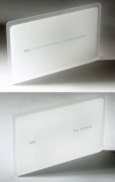 Forget Computers White Business Card