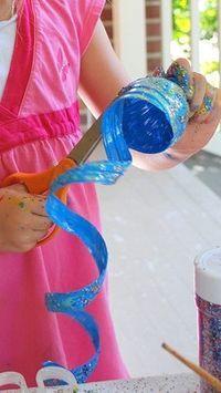 Turning plastic bottles into art!