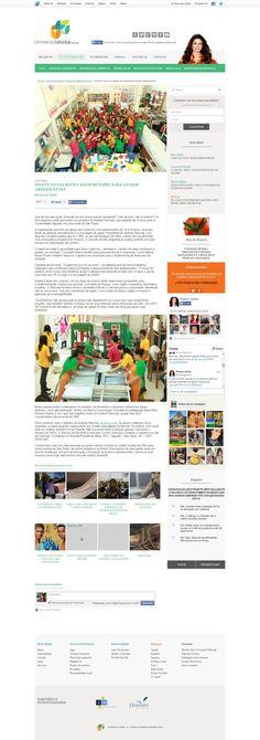 Título: Instituto usa reciclagem de papel para ajudar adolescentes. Veículo: Universo Jatobá. Data: 14/07/2014. Cliente: Instituto Reciclar.