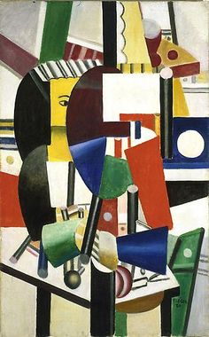 2013 EXPO Preview - Fernand Leger Femme au miroir, 1920 Oil on canvas 46 5/8 x 28 in. 118.4 x 71.1 cm