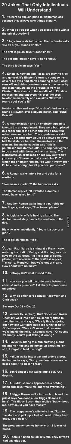 Are you geek enough to understand these jokes? Number 5 took me a minute!