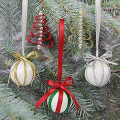 Easy Ribbon Ornaments