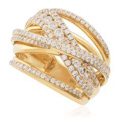 18K Yellow Gold 2.18ct Diamond Ring - Shyne Jewelers