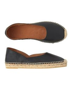 Leather espadrille from Toast Black Leather Espadrilles, Black Rope, Build A Wardrobe, Summer Flats, Clothes Horse, Spring Fashion, How To Look Better, Toast, Loafers