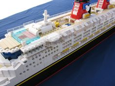 Lego Disney Cruise Ship Upper Deck Close-Up