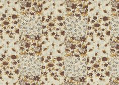 coupon tissu patchwork fleurs Liberty romantique shabby chic, beige, marron, env. 50x50 cm