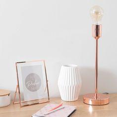 Lámpara de metal cobrizo Al. 41cm IDEA COOPER | Maisons du Monde