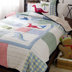 Share this page with others and get off! Horse Bedding, Crib Bedding Sets, Quilt Bedding, Dinosaur Bedding, Dinosaur Park, Patchwork Quilt Patterns, Quilted Bedspreads, Quilt Sets, Duvet Cover Sets