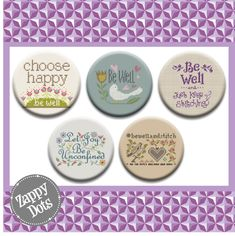 Needle Minders, Eyeshadow, Dots, Let It Be, Stitch, Stitches, Eye Shadow, Full Stop, The Dot