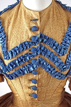 Dress, ca 1865 India detail | dress ca 1865 american cotton c i 67 37 1 metropolitan museum of art