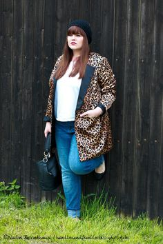 Hülle & Fülle Plus Size Fashion Blog: Leo fever, Blazer Love, Boyfriens Jeans, OOTD Plus Size Outfit, Zizzi Fashion