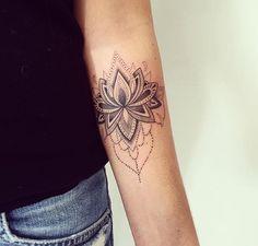 Arm tattoo.