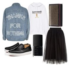 """""""Untitled #26"""" by notosuper on Polyvore featuring Vetements, Christian Louboutin, River Island and NARS Cosmetics"""