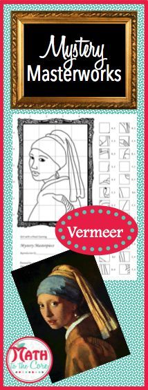 Fun drawing activity for art students in 5th, 6th, 7th, 8th, 9th, 10th, 11th and 12th grade! Add an extra challenge by having students color in the final picture! The historic Girl with Pearl Earring is an exciting and unique art history lesson!