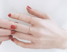 Simple, sweet, and affordable - Yellow Gold Baguette Diamond Ring by Vrai & Oro